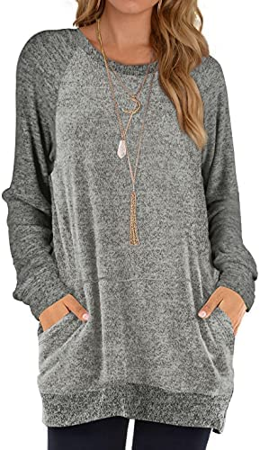 WEESO Womens Oversized Sweatshirts Crewneck Casual Printed Pullover Tops