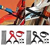 Whiie891203 Rescue Traction Strap Pull Pull Sling Belt, para La Mayoría De Las Motocicletas Dirt Bike Pit Enduro Compatible con Honda KTM Yamaha Kawasaki Suzuki Rojo