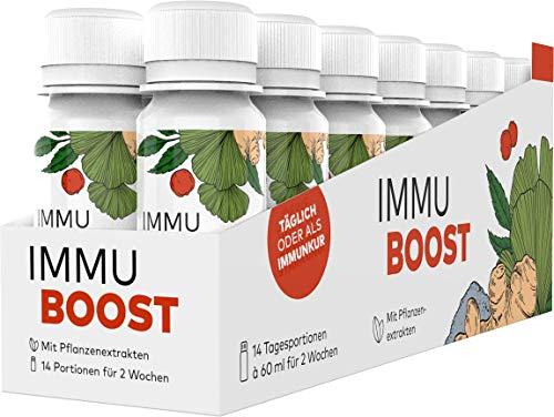 ImmuBoost® Shot | 14 Shots | 1 Tag 1 Shot | Immunsystem stärken | täglich od. 2 Wochen Immunkur durch Vitamin C & Zink | Mit Ingwer & Magnesium | Immunsystem-Komplex Abwehrkräfte | vegan & hochdosiert