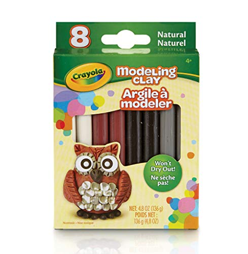 Crayola Modeling Clay, Natural Colors, Gift for Kids, 0.6 oz (57-0314)