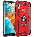 AFARER Hülle Kompatibel Mit Huawei Y6 (2019)/Huawei Y6s (2019)/Huawei Y6 Prime (2019)/Honor 8A 2020 Militärische Handyhülle Rot