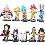 REYOKG Dragon Ball Cake Topper Pastel Decoración Suministros 10Pcs Goku Figures Toy Dragon Ball Juguetes Muñeca Hecha a Mano Muñeca Decoración para niños Animales Juguetes Set