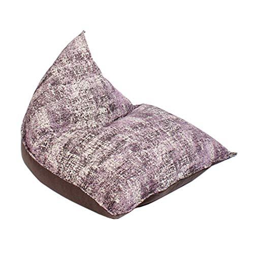 Sillón Puf Gamer Bean Bag Recliner Gaming Beanbag Al Aire Libre Y Interior Adulto Garden Lazy Lounger Asiento Sillón Sofá para Dormitorio (Color : Purple, Size : 126x112x112cm)