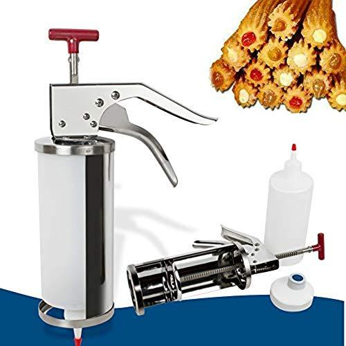 Denshine 1L Manuel Donuts Espagnoles Churrera Churros Machine de Remplissage de Remplisseur pour Cuisine Restaurant Café