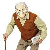 NET TOYS Travestimento da Nonno Costume Uomo Anziano XL 54 - Camuffamento da Vecchio Outfit da nonnino per Carnevale Vestito da Senior per Festa in Maschera Accessori Party Bad Taste