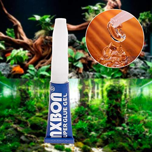 Kalttoy Aquarium-Kleber für Wasserpflanzen, Gras professioneller Kleber für Aquarien, sofortiges Cyanacrylat, spezielle Formel