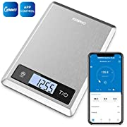 RENPHO Digital Food Scale, Kitchen Scale for Baking, Cooking and Coffee with Nutritional Calculator for Keto, Macro, Calorie and Weight Loss with Smartphone App, Stainless Steel