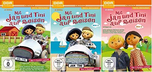 Mit Jan und Tini auf Reisen Box 1+3+5 (DDR TV-Archiv Kinder) [DVD Set]