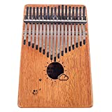 Flybiz Kalimba 17 Teclas Thumb Piano, Caoba Africana Thumb Piano Dedo Percussion, Música Finger piano Kalimbas para Niños Principiantes Adultos Cumpleaños Regalode Navidad, con Bolsa de Transporte