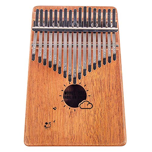Flybiz Kalimba 17 Tasten Daumen Klavier, afrikanisches Mahagoni Finger Percussion, Musik Finger Klavier Kalimbas für Kinder, Anfänger, Erwachsene, Geburtstag Weihnachtsgeschenk, mit Tragetasche …