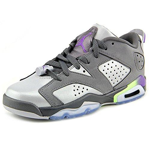 Nike Mädchen Air Jordan 6 Retro Low GG Laufschuhe, Gris/Morado (Drk Gry/Ultrvlt-WLF Gry-Ghst G), 36 EU