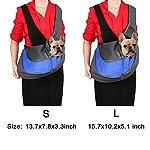 BIGWING Style Pet Sling Carrier for Dog Cat Pets Travel Shoulder Bags (L, Blue) 13