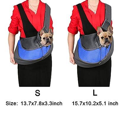 BIGWING Style Pet Sling Carrier for Dog Cat Pets Travel Shoulder Bags (L, Blue) 5