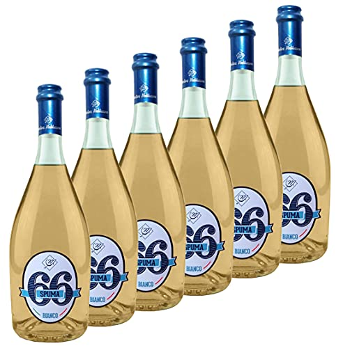 Spuma66 - Vino blanco espumoso - 11% alc. - 6 botellas de 750 ml. - Cantine Mediterranee