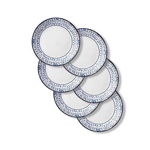 Corelle Chip Resistant Lunch Plates, 6-Piece, Portofino