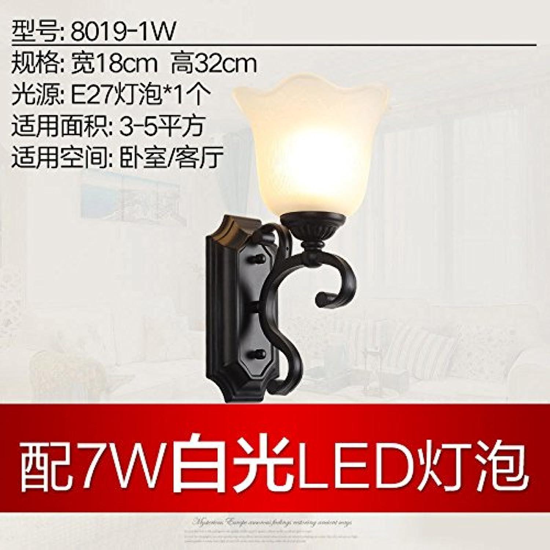 StiefelU LED Wandleuchte nach oben und unten Wandleuchten Rustikale Bügeleisen Schlafzimmer Bett Wandleuchten Wandleuchten single Wohnzimmer Flur balkon Badezimmer, einem Kopf - Wei