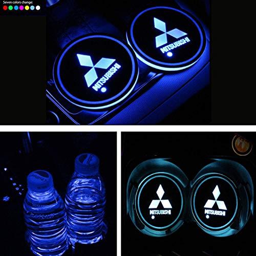 Car Cup Pad Lichter USB-Auto-Becherhalter-Coaster Beleuchtung Dekoration Atmosphäre Interior Automotive Dekorative Dome Lampen for Mitsubishi Cars