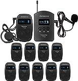 Retekess TT103-TT104 Sistema di Guida Turistica, Audioguide Tour Guide System, 140 m 200 Canali per Guida Turistica, Museo, Conferenza,Scuola, Fabbrica (1 Trasmettitore 10 Ricevitori)