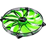 Aerocool Silent Master 200 - Green LED (200x200x20mm)