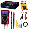 Plusivo Digital Multimeter, Volt Amp Ohm Multi Tester, For Measuring Voltage, Resistance, Current with Test Probes