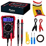 Plusivo Digital Multimeter, Volt Amp Ohm Multi Tester, For Measuring Voltage, Resistance, Current with Test Probes