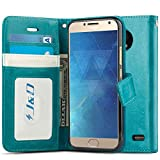 J&D Case Compatible for Motorola Moto E4 Case, Wallet Stand