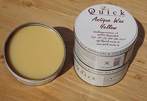 Quick Antikwachs Pflegewachs in ALLE Farben! (375 mL., Gelb oder Honey)