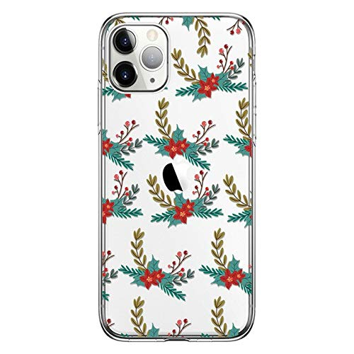 Carcasa suave para iPhone 11 Pro, ciervo de Navidad, transparente de Tpu Back Case para Huaweip30 Caso Para Iphone X Xs Xr Niña Regalos de Niño