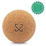 COCOMIND Kork Massageball 9cm I plastikfreier Faszienball für Selbstmassage von Nacken, Rücken und Füße I nachhaltig und ökologisch hergestellt (9 cm Ball)