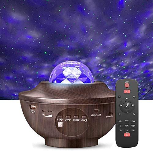 LED Sternenhimmel Projektor, Amouhom Ozeanwellen Projektor mit Fernbedienung/Bluetooth 5.0/360°Drehen /3 Helligkeitsstufen Geschenke für Party Weihnachten Ostern