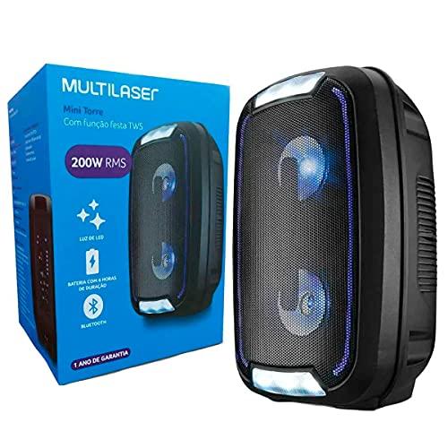 Mini Torre Multilaser Neon Bluetooth 200W Preto - SP336, 100045