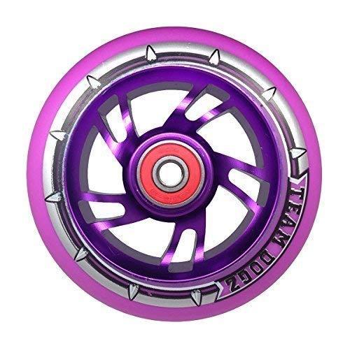 pink Rosa Lila 100mm Kinder Kindes Mädchen Stunt Scooter Ersatz Legierungsmetall Rad inc abec 9 Lager. Passt Fast Allen iScoot, JD-bug, Rasierer, Mikro und Team Dogz