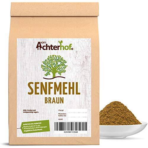 1.000 g Senfmehl braun / schwarz - Senfsaat braun vermahlen -Senfkörner braun vermahlen- ideal um Senf selbst herzustellen natürlich vom-Achterhof