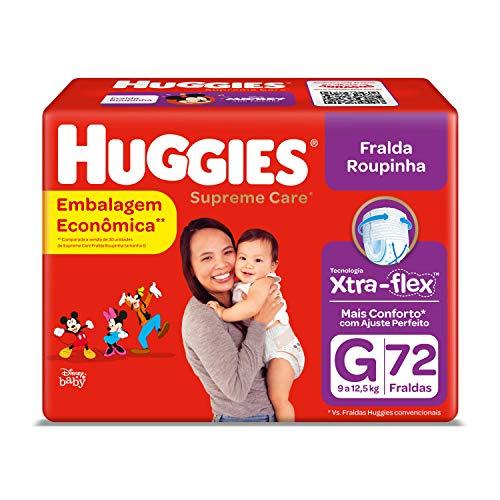 Huggies Fralda Supreme Care Roupinha BAG G, 72 Fraldas, Huggies