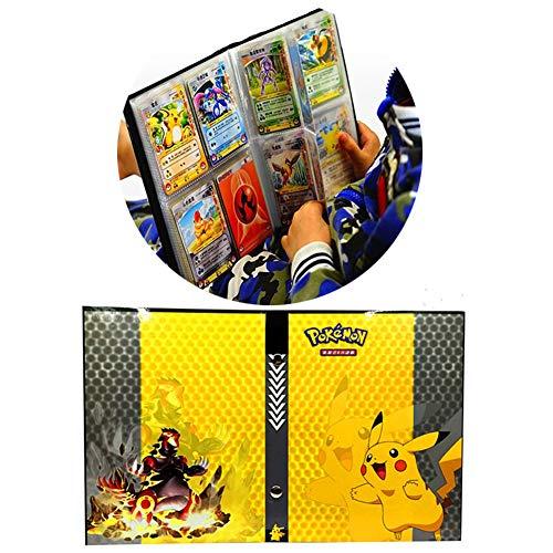 Pokemon-Auflistung Handbuch Handel Karte Album GX EX TCG Spielkarte Professionel Sammlung 160 Kartensteckplatz-(Pikachu Cover)