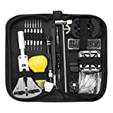 QTDH Uhr-Reparatur-Tool-Kit, 153 PC-Beruf Schraubendreher-Frühlings-Stab-Werkzeug-Set, Video-Band-Verbindungs-Pin-Werkzeug-Satz for Reparatur, Uhren-Shop, Handwerk