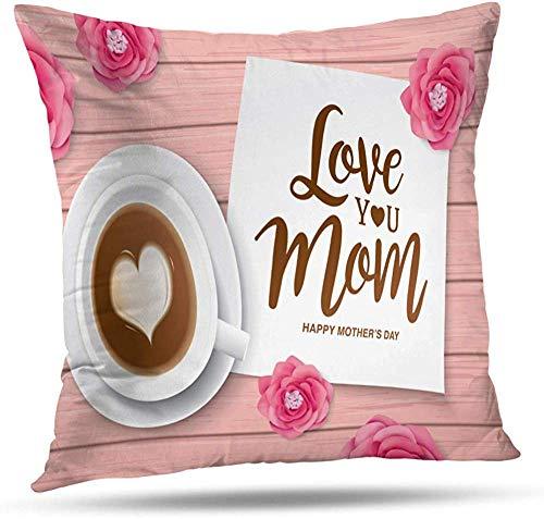 zhkx Funda de almohada, diseño de corazón rosa con símbolo de amor para el día de San Valentín, de lona, cojín para decoración del hogar, bonito regalo, sofá, cama, coche, 45,7 x 45,7 cm