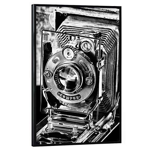 artboxONE Poster mit schwarzem Rahmen 30x20 cm Abstrakt Plattenkamera ICA Dresden - Bild Kamera objektiv Klassik
