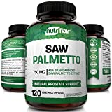 NutriFlair Saw Palmetto Extract 750mg, 120 Capsules - Natural Prostate Supplement & Berry Health Support - Helps Block DHT to Prevent Hair Loss and Helps Reduce Frequent Urination, for Women and Men