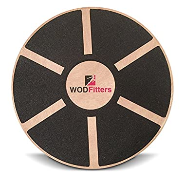 WODFitters Balance Board - Premium Wooden Wobble Board - 16  Round Balance Trainer - Fit Board / Exercise Board For Core Training Fitness Workouts, Physical Therapy & Rehabilitation - w/ Carrying Bag
