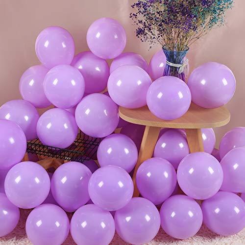 200Pcs Light Purple Balloons 5 Inch Mini Thicken Macaron Lavender Purple Latex Balloon for Birthday Wedding Bridal Shower Anniversary Unicorn Mermaid Party Decorations Supplies
