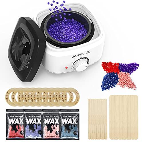 JahyElec Wax Heater Waxing Kits Professional Full Kit Wax Pot Wax Warmer, 4...