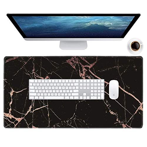 """Galdas Large Gaming Mouse Pad XXL Extra Large Mouse Pad Long Extended Mousepad for Desk Non-Slip Rubber Mice Pads Stitched Edges Thin Large Big Mouse Pad (31.5""""x15.8"""") (Black Marble)…"""