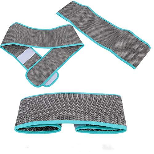 El arnés de seguridad para sillas de ruedas, el cinturón de la silla de ruedas con gancho fuerte y las correas de bucle pueden ser de seguridad y fáciles de ajustar (cinturón de silla de (M-Azul)