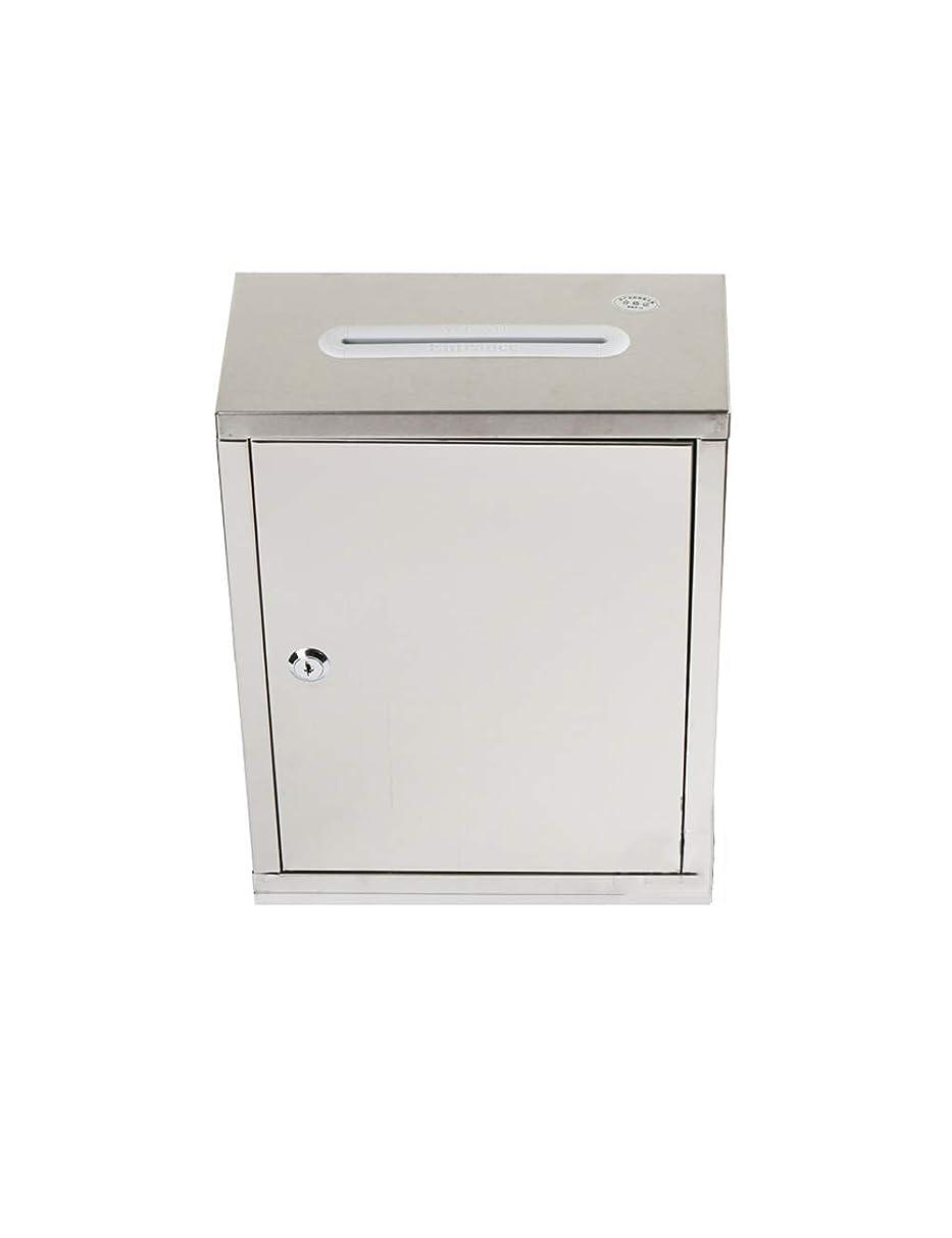 うつ信じられないどんよりしたTYUIO 縦のメールボックス現代郵便箱の銀製を固定する壁に取り付けられたメールボックスのステンレス鋼のメールボックス