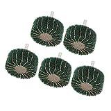 5pcs Schleifrad für Fächerschleifer Lamellenschleifer mit 6mm Schaft, für Edelstahl/Aluminium/Kupfer