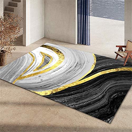 alfombra para habitacion alfombras de habitacion juvenil Alfombra del dormitorio de la sala de estar decoración del dormitorio antideslizante y anticaída decoración casa 160X230CM 5ft 3'X7ft 6.6'