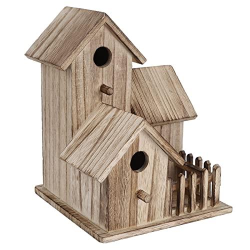 Ddcjc Birdhouse De Madera Pequeño Jardín Al Aire Libre Pájaro Caja De Anidación Pájaro Casa Mascota Suministros De Mascotas Decoración Aves Adecuadas Golondrinas Loros (Color : Natural)