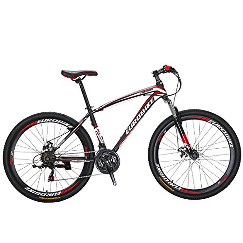 SL Mountain Bike X1 bike 27.5 inch suspension bike bike red Bicycle (Red)
