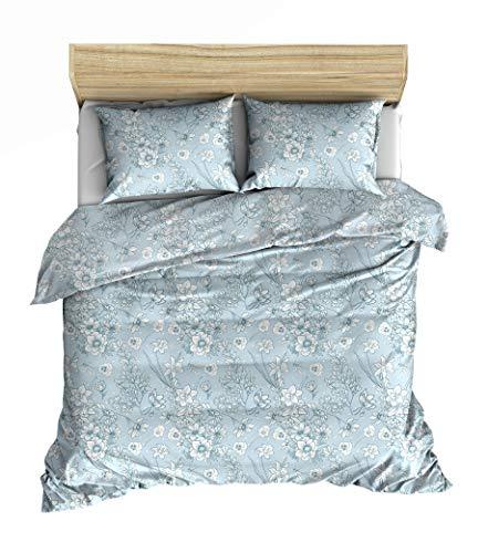 Lemur Textilien Aeson - Juego de funda nórdica de 140 x 200 cm y 1 funda de almohada de 65 x 65 cm, 100% algodón